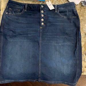 Lane Bryant Stretch Denim Skirt size 16